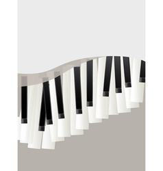 piano keys retro background vector image vector image
