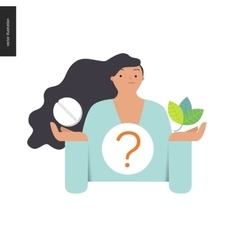Pill or herbal vector image