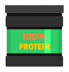 protein bank icon flat style vector image vector image