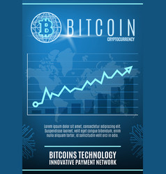 vintage colored crypto currency poster vector image