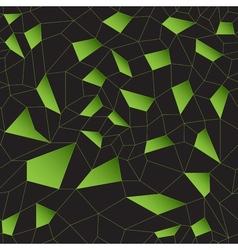 Green mosaic grid vector image vector image