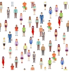 People seamless pattern with men women Society vector image vector image