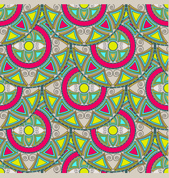 seamless pattern from multicolored circles vector image vector image