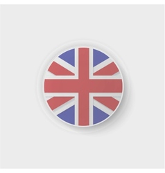 britain flag button vector image vector image