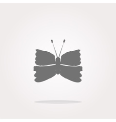 Butterfly Icon on Internet Button isolated vector image vector image