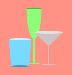 icon in flat design for restaurant cocktail vector image vector image