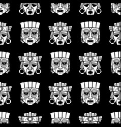 indian aztec and african tribal vodoo mask vector image