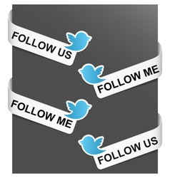 left and right side signs - follow me vector image vector image
