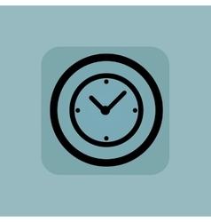 Pale blue clock sign vector