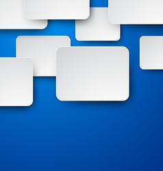 Paper white notes on blue vector image vector image