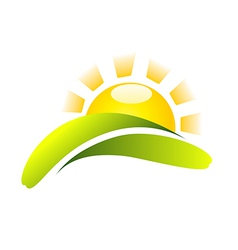 Sun Icon Creative Design vector image vector image