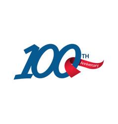 100 th anniversary template design vector