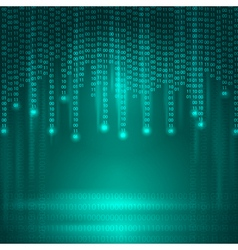 Abstract Background with binary code vector