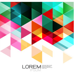 abstract colorful geometric template isolated on vector image