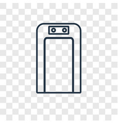 airport concept linear icon isolated on vector image