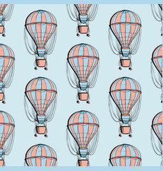 airship balloon colorful pattern travel ballon vector image