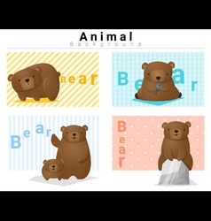 Animal background with Bears 2 vector image