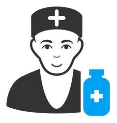 Apothecary doctor flat icon vector