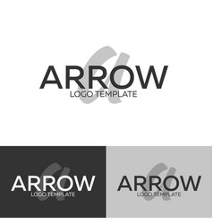 arrow logo letter a logo logo template vector image