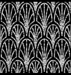 art deco silver sequin seamless pattern gatsby vector image