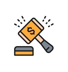 Auction hammer gavel sales company stock vector