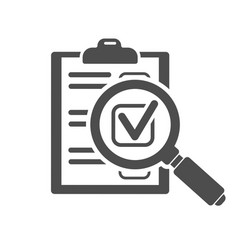 audit and test flat icon set vector image