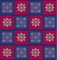 Background With Pattern Folk vector