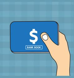 bankbook vector image