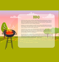 Bbq poster with nature text vector