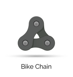 Bicycle chain links 3 pieces vector