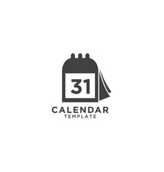 calendar graphic design template vector image