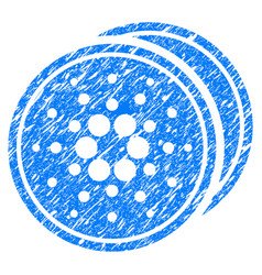 Cardano coins icon grunge watermark vector
