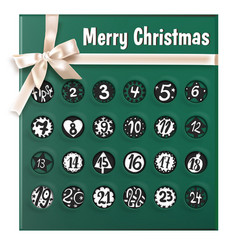 christmas advent calendar realistic poster vector image