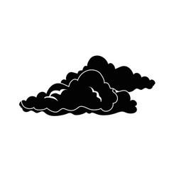 Clouds weather symbol vector