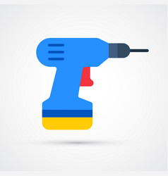 Colored electric screwdriver trendy symbol vector