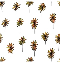 Cute seamless hand drawn pattern vector image