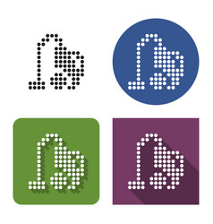 Dotted icon vacuum cleaner in four variants vector