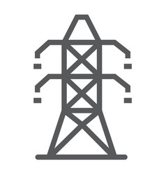 Electric tower line icon ecology and energy vector