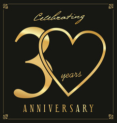 Elegant black and gold anniversary background 30 vector