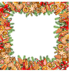 Festive template isolated on white background vector