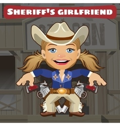 Fictional cartoon character - sheriffs girlfriend vector