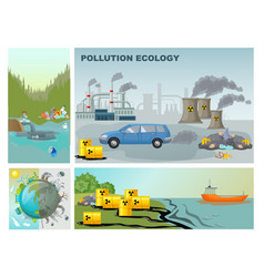 Flat environment pollution composition vector
