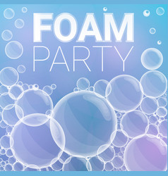 foam party concept background cartoon style vector image