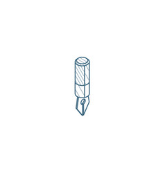 fountain pen isometric icon 3d line art technical vector image