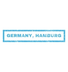 Germany hamburg rubber stamp vector