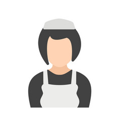 girl in maid uniform vector image