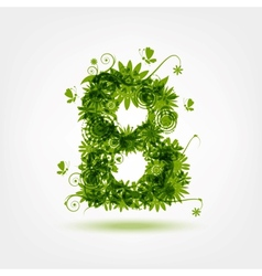 Green eco letter B for your design vector image