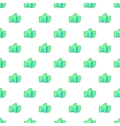 Green paintball glove pattern cartoon style vector