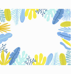 green plants exotic leaves vector image