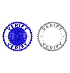 Grunge verify scratched stamp seals vector